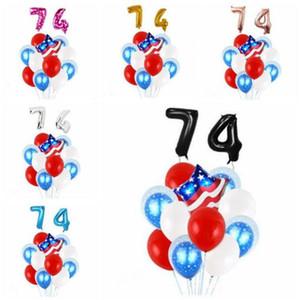 4 luglio Balloon USA Independence Day palloncino decorazione Set lattice Foil Balloon American Party Decorazione Moda Stampa Balloons C851
