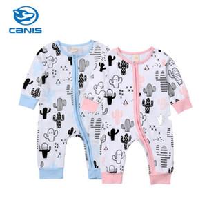 США продавец малышей детские мальчики девочки молния комбинезон Комбинезон наряд одежда