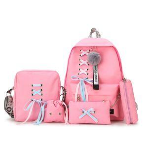 2019 Recreational Multi-piece Canvas Backpack Mochila Feminina Backpack Women Mochilas Mujer School Bags For Teenage Girls J190525