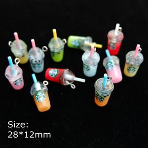 Kawaii кофе Подвеска Подвеска Смола кабошон для DIY ожерелья серьги ювелирных изделий брелок изготовления аксессуаров