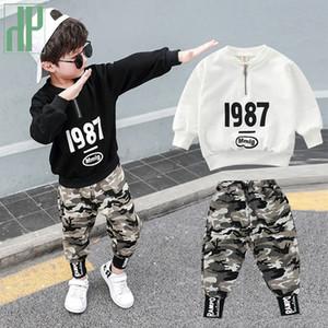 Çocuk giyimi erkekler için Kostüm Harf Eşofman Kamuflaj Boy Kış Kıyafetler Seti Tracksuit 3 8 12 Yıl T200404 yürümeye başlayan Pantolon Tops