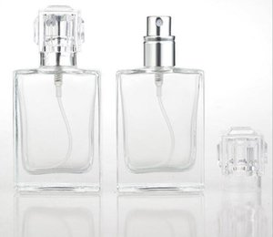 30ML Glass Perfume Spray Bottles Portable Clear Spray Bottles With Aluminum Atomizer Empty Cosmetic Case For Travel