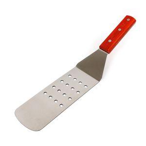 Kitchen tools stainless steel wooden handle cooking shovel lengthened steak shovel cake