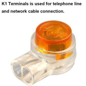 محطات كابلات كومة الحاسوب موصلات OULLX K1 K2 موصل RJ45 تجعيد اتصال موصل للماء أسلاك كابل إيثرنت Teleph ...