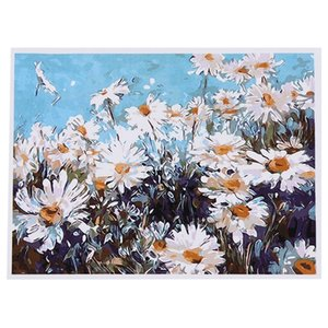 DIY Oil Painting Paint By Number Kit Image Drawing On Canvas By Hand Coloring Arts Crafts & Sewing NEW White Daisies