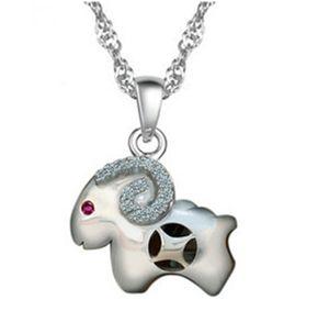 судьба деньги овец кулон стерлингового серебра 925 пробы кулон зодиака овцы талисман ювелирные изделия