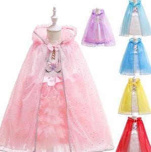 Umhang Kostüm Halloween Tag der Kinder Kap-Schal-Kleidungs-Mädchen-Prinzessin Kostüm-Kind-Karikatur Capes Prinzessin Poncho KKA7735