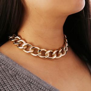 S1187 Hot Fashion Jewelry Metel Chain Choker Short Necklace Bracelet