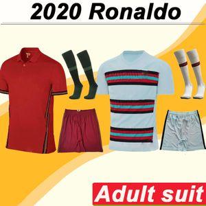2020 Роналдо костюм мужские трикотажные изделия футбола Португалии Силва Ж. Моутинью дома в гостях футбол рубашка комплект Андре Гомеш с коротким рукавом носки мундиров