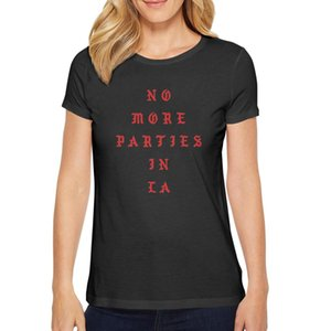 Fashion Womens Kanye West No More Parties in LA black Round neck t shirt Undershirt Slogan shirts 808s and Heartbreak The Life of Are
