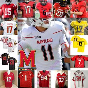 Maryland Terrapins Fußball Jersey NCAA Josh Jackson Javon Leake Anthony McFarland Jr. Dontay Demus Jr. Keandre Jones Diggs Pigrome
