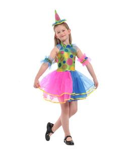 Purim Cosplay Fille Drôle Costume De Clown Déguisements Halloween Enfants Cirque Clown Carnaval