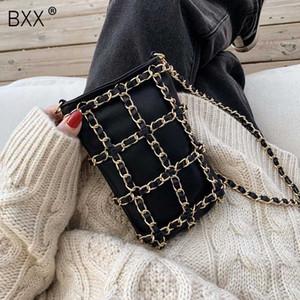 [BXX] pequeña cadena de la PU de los bolsos de cuero Crossbody para las mujeres 2020 del resorte del Todo-fósforo mensajero del hombro del bolso femenino bolsos de la moda HJ974