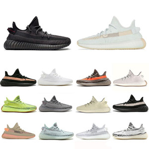 2019 Zapatillas de running para hombre V2 Hyperspace Static baratas Kanye West Cream White Black White Bred Women Fashion Sport Sneakers 36-45