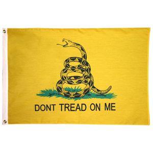 Treten Sie nicht auf mir Flagge Snake Flag Banner Günstige Preise Polyester Hanging Fliegen Werbung beim Drucken beliebiger Entwurf jede Logo-Flagge