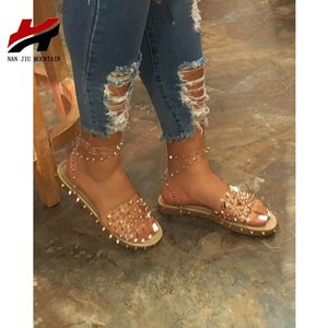 NAN JIU MONTANHA 2020 Mulheres Plano Sandálias do verão Abrir Tea Rivet sandálias abertas Tea confortáveis sapatos Plus Size 35-43 Y200405 Casual