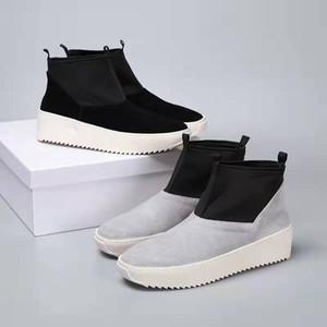 Medo de Deus FOG Sexta Coleção Mid Skate Sneakers Kanye West dos homens Sapatas do Esporte Ao Ar Livre Sapatos de Skate Top Mens Ankle Boots Tamanho 38-47