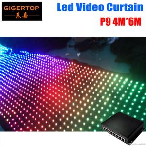 Controlador de modo de alta calidad Pitch9 4M * 6M LED Vídeo Cortina PC 2904Pcs Tricolor 3IN1 de vídeo LED de cortina para contextos de la boda
