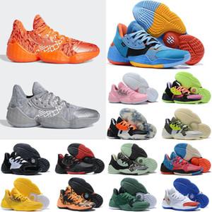 Harden Vol 4 Herren-Basketball-Schuhe Pink Lemonade Süßigkeit Farbe Schwarz Camo Scarlet Friseursalon Glow Green Royal Bright Blue BHM Schuhe Sneakers