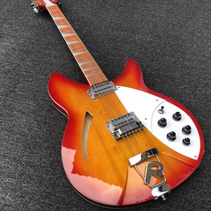 2019 de alta calidad de 12 cuerdas de la guitarra eléctrica, el cuerpo 360 de Ricken guitarra eléctrica, cereza roja repartida, diapasón de palo de rosa, envío libre