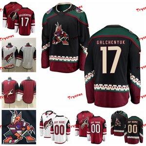 2019 Arizona Coyotes Alex Galchenyuk Трикотажные изделия сшитые по индивидуальному заказу Vintage Black Shirts # 17 Alex Galchenyuk Хоккейные майки S-XXXL