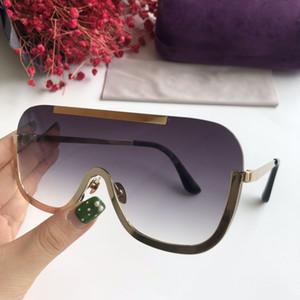 Hombres Mujeres 2020 Nueva Negro Gafas retro gafas de sol de protección Flat Top gafas de sol de la plaza Sombras de una pieza UV400 Gradiente sol Glasse