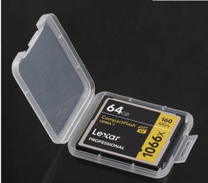 New Protection Case Card Container Memory Card Boxes CF Cards Tool Plastic Transparent Storage Box Mini CF Card Easy To Carry Box A2094
