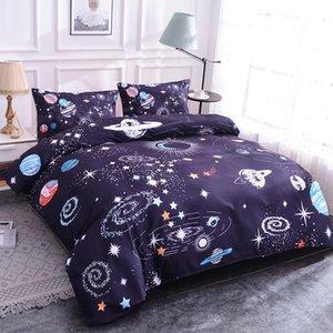 Planet Bettwäsche-Sets Bett Heimtextilien 3D Design Digital Printing Bedding Set Bettbezug Kissen Bettwäsche Dropshipping