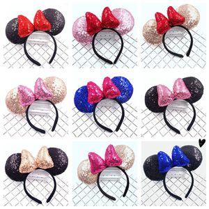 Mädchen Sequin Bogen Haar-Accessoires Mouse-Ohren Stirnband-Kind-Haar-Sticks Babykinder nette Halloween Weihnachten Cosplay Kopfschmuck Ring C584