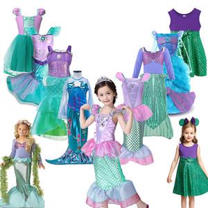 Costumi 10styles ragazze Little Mermaid principessa Dress Cosplay Per i più piccoli della neonata sirena del vestito dei bambini di Halloween Abbigliamento Scegliere Invia