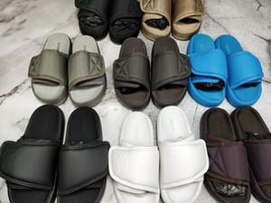 최신 디자이너 신발 Kanye 웨스트 시즌 7 샌들 슬리퍼 OG 여름 해변 실내 평면 슬리퍼 플립 샌들 나일론 슬라이드 상자