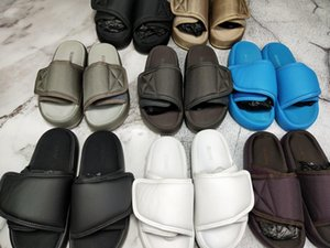 Neueste Designer Schuhe Kanye West Saison 7 Sandalen Slipper OG Summer Beach Indoor flache Hausschuhe Flip Flops Sandale NYLON SLIDES mit Box