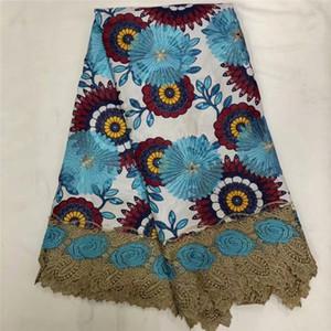 Tessuto africano del merletto di alta qualità 2019 tessuto di cera africana del merletto 6 yards tessuto di pizzo guipure africano per abito da sposa xf8-80
