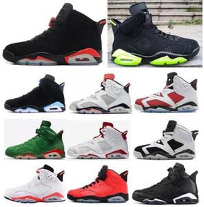 Alta calidad 6 6s BRED Negro Infrarrojo Hare DMP Oregon Ducks PE Tinker Hombres Zapatos de baloncesto Alternate Cat Sneakers con caja
