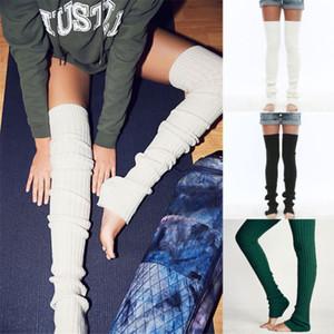 Meias do Natal Mulheres Meninas sobre o joelho longas meias de malha suave e quente Coxa alta Stocking New Longo cor sólida malha Pé Sock