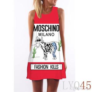 Hot! Frauen Blumendruck Ärmelloses Kleid Abendkleid Party Kurzes Maxikleid Sommer Sommerkleid Casual Damenbekleidung Bekleidung Kleider LYQ44-64.