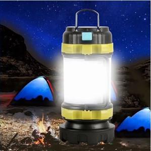 50000LM LED Camping Luz USB lanterna recarregável Regulável Spotlight Trabalho Luz Waterproof Searchlight emergência Torch LLFA