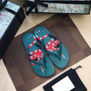 Casual Männer Flip-Flops Green Coral Snake Muster für Männer flache Schuhe Sandale Essential Sandale für Urlaubsreisen, Größe 39-44