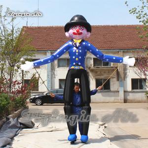 3.5m Marche gonflable Clown Marionette Puppet adulte Wearable Blow Up Clown Costume Circus Parade Voir
