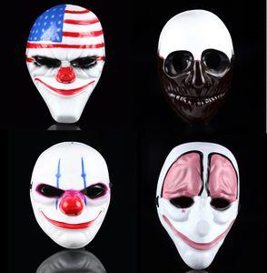 Новые Маски Minch Хэллоуин клоун для маскарада Scary клоунов маски Payday 2 Хэллоуина Ужасной маски