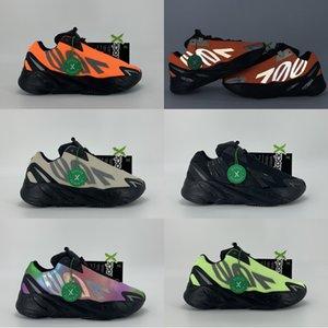 2020 kanye 700 Stylist Schuhe reflektierende Orange Tie-Dye Triple Black Phosphor Knochen Turnschuhe Außen Trainer Mode Läufer Laufschuhe
