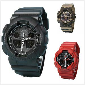 Choque original relógios dos homens do esporte wr200ar g relógio militar do exército chocante relógio à prova d 'água todos os ponteiro trabalho digital relógio de pulso 10 cores