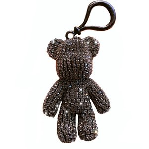 New Fashion Korean Style Diamond Inlaid Bear Shaped Keychain, Lovely Car Keyring For Girl Bag Pendent