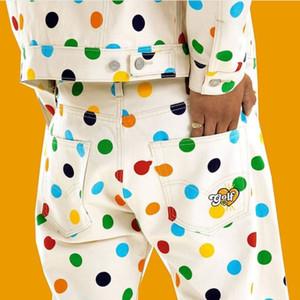 GOLFWANG Polka Point Giacca di jeans Pantaloni Coat donne Outwear uomini modo di alta qualità del rivestimento del cappotto HFWPJK173