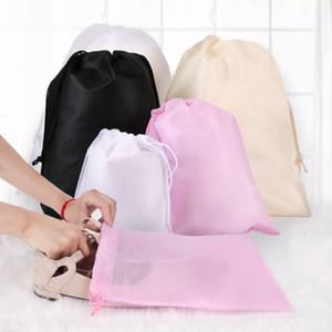 Non Woven de armazenamento saco de pó para roupas Shoes embalagem para bolsa de viagem Diversos Armazenamento Pull Corda Organização Bags