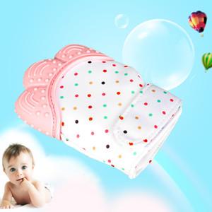 سيليكون الطفل هوة قفاز المهديء طفل عض الأسنان مضغ العاض للتمريض حديثي الولادة باستيل للعب الأطفال
