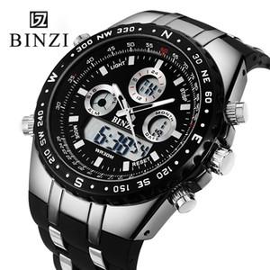 Binzi Marca Relojes Hombres Moda Deportes Reloj Militares Relojes Impermeables Llevados Relojes Digitales Masculinos Relogio masculino Y19051703