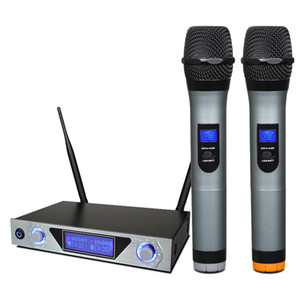 KTV Dual UHF Portable Wireless Microphone MU-868 Professional Dynamic Microphone for Home Theater Speaker audio mixer power amplifier DJ