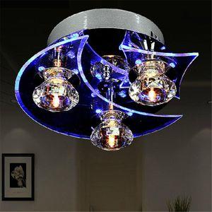 Retro Yemek Odası Kristal Avize Tavan LED Işık kolye Ay Yıldız Işıklar