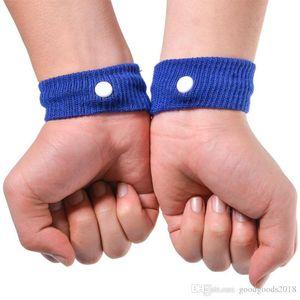 Vendita calda di colore della caramella Anti Nausea braccialetti auto Anti Nausea malattia riutilizzabile Movimento mare malato fasce di viaggio da polso Health Care con la scatola chiara